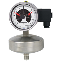 스위치 알람 캡슐 압력 게이지 (Capsule pressure gauge with switch contacts)