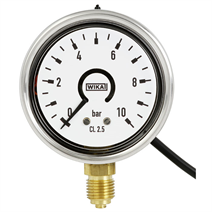 전자 압력 스위치가 있는 부르동관 압력계 (Bourdon tube pressure gauge with electronic pressure switch)